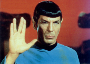 "If you believe the myth that ELF is ""colorless"" English, then Spock from Star Trek should be the prototypical ELF user.Screenshot borrowed from Wikipedia"