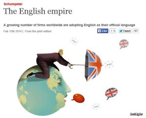 "Click the image to jump to ""The English empire"" from the Schumpeter blog on the Economist website."