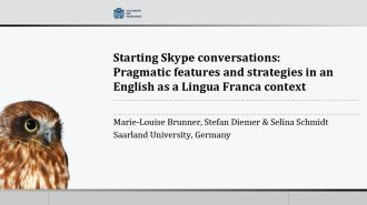 Click to view the presentation slides (pdf) from Stefan Diemer, Marie-Louise Brunner & Selina Schmidt at ICAME 35.