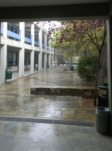 Flooding university.